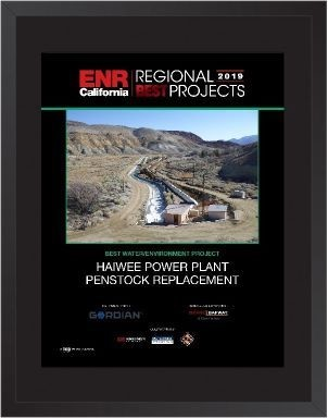 ENR California's Best Projects 2019 - Water/Environment Award
